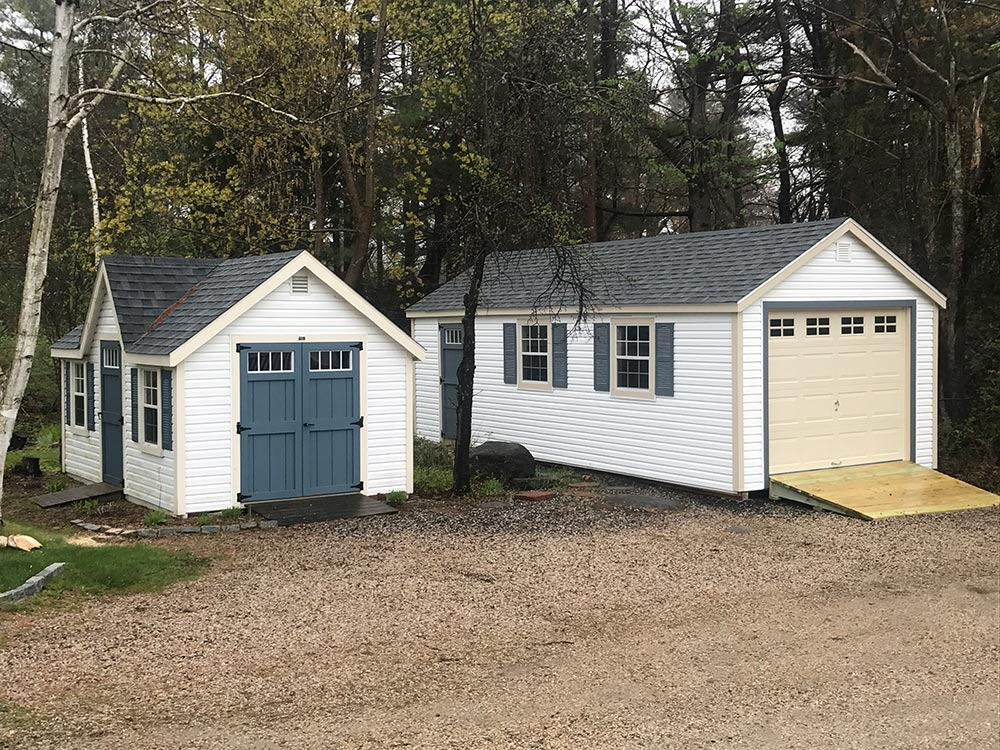 Shed With Matching Garage Maine Sheds Modern Woodtech
